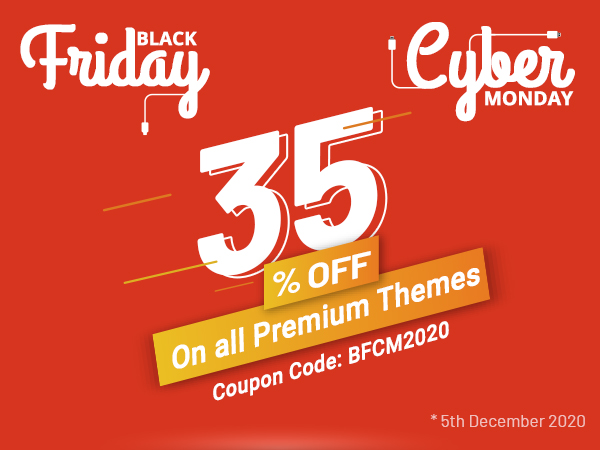 8Degree Themes - Black Friday & Cyber Monday Deal