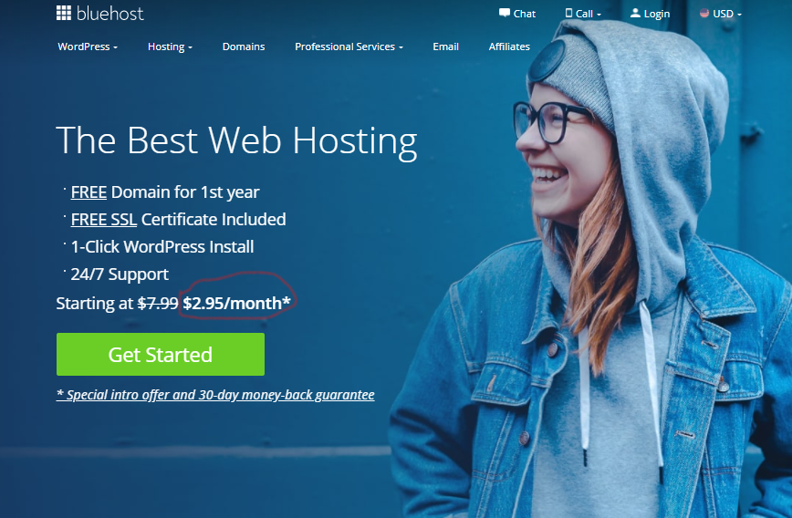 BlueHost - WordPress Web Hosting Review
