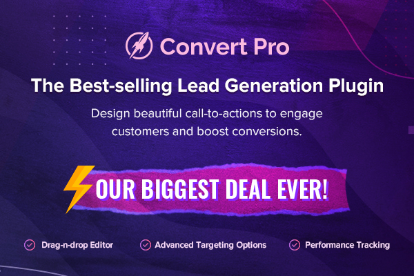 Convert Pro - Black Friday & Cyber Monday Deal