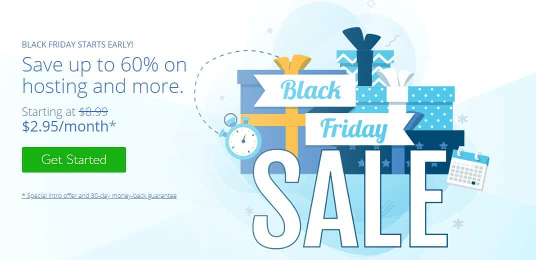 Bluehost - WordPress Deals and Discounts for Black Friday & Cyber Monday 2020