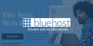 BlueHost Web Hosting Review and Alternatives