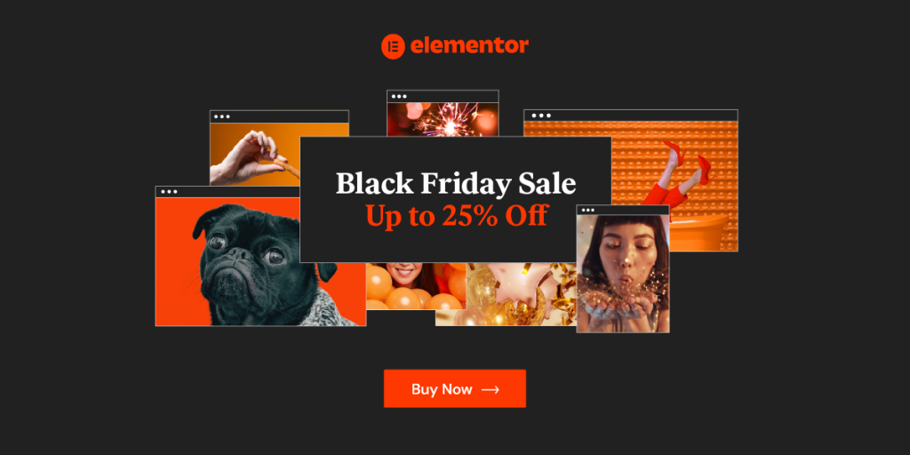 Elementor - WordPress Black Friday Cyber Monday Deal