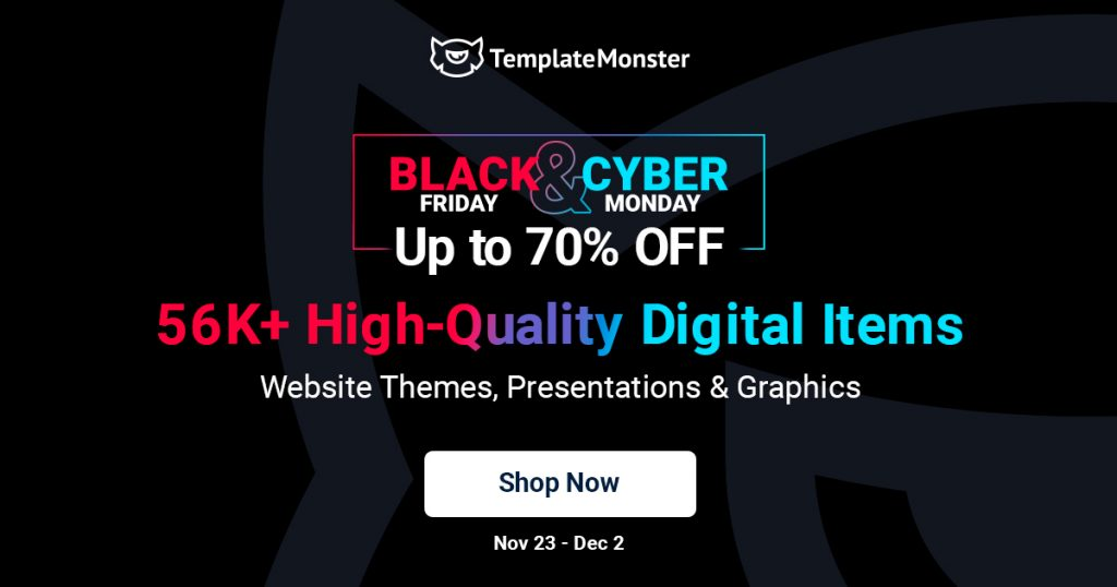 TemplateMonster - Black Friday Deal 2020