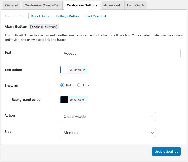 Customization of buttons
