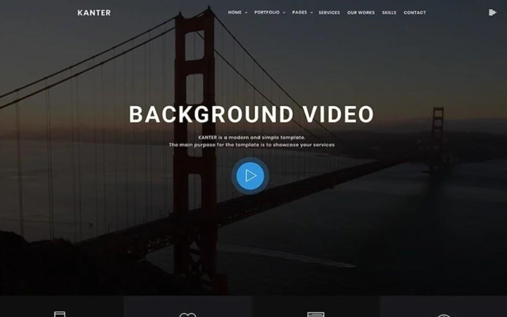 Kanter - Corporate & Portfolio & Agency WordPress Theme