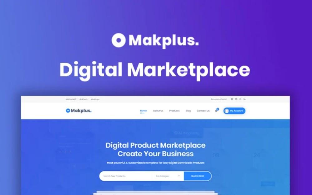 Makplus - Digital Marketplace WordPress Theme