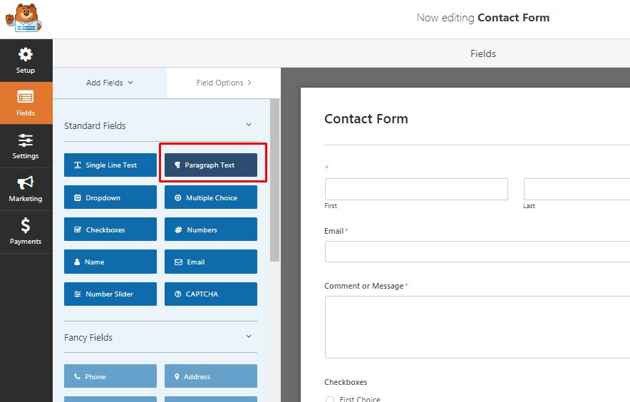 Create Contact Form WordPress Website