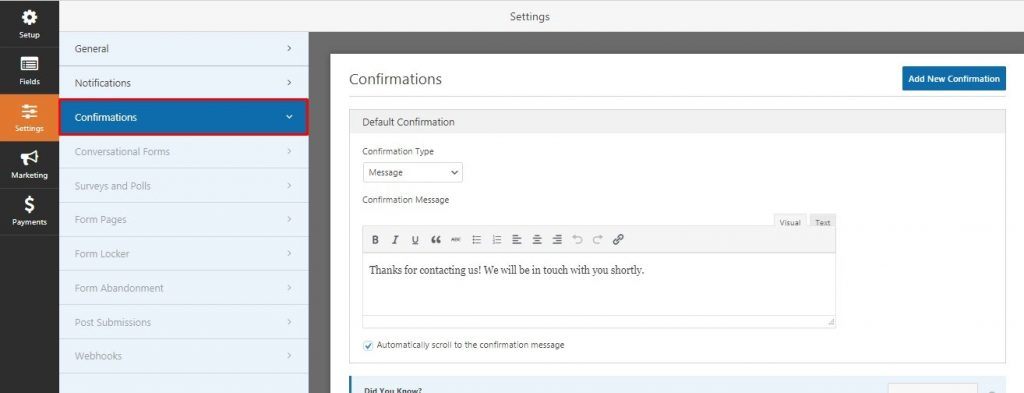 Create Contact Form in WordPress Site
