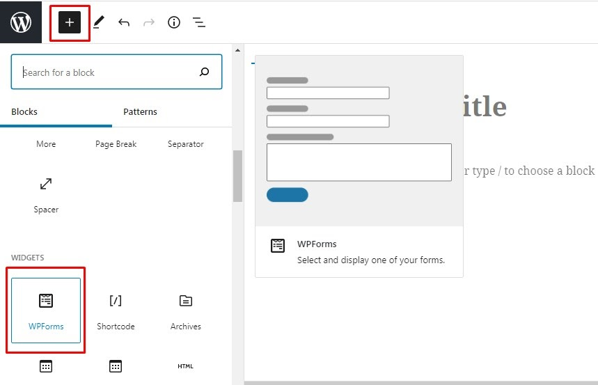 Create Contact Form in WordPress