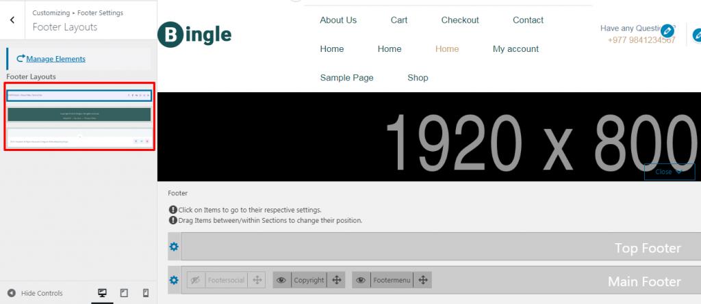 Edit Footer of your WordPress Website.