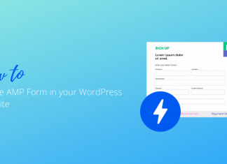 How to Create AMP Form in your WordPRess Website