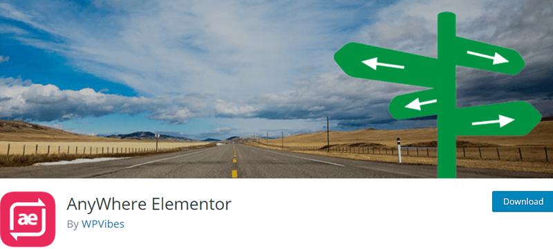 Anywhere Elementor - Best Elementor Addon & Extension