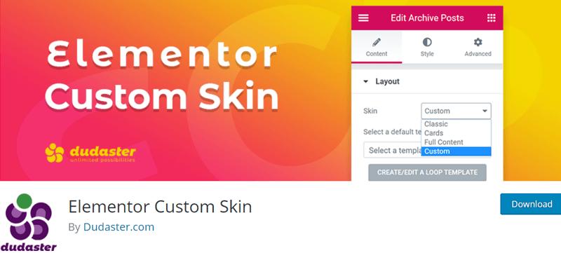 Elementor Custom Skin - Best Elementor Addon & Extension