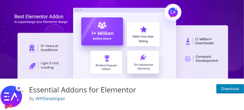 Essential Addons for Elementor - Best Elementor Addons & Extensions