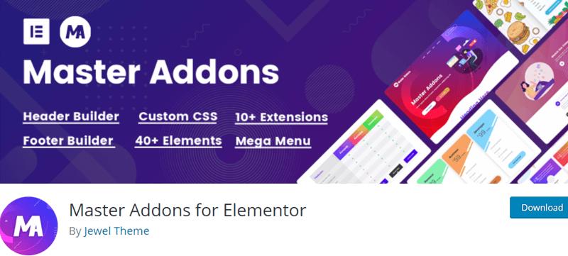Master Addons for Elementor - Best Elementor Addon & Extension