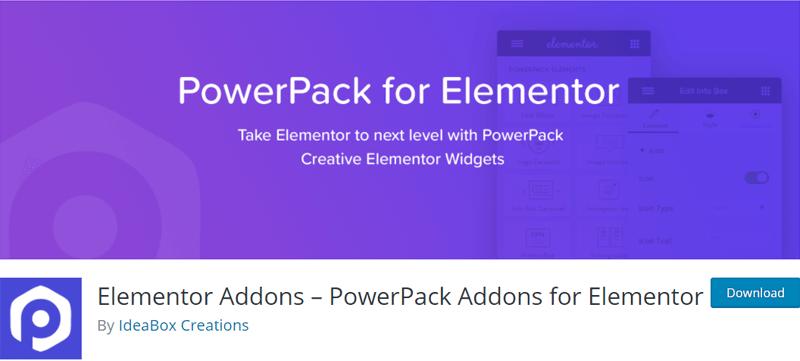 Power Pack Addons for Elementor - Best Elementor Addon & Extension